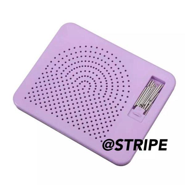 画像1: 【新】上部ポケット 紫グリッドペグボード (1)